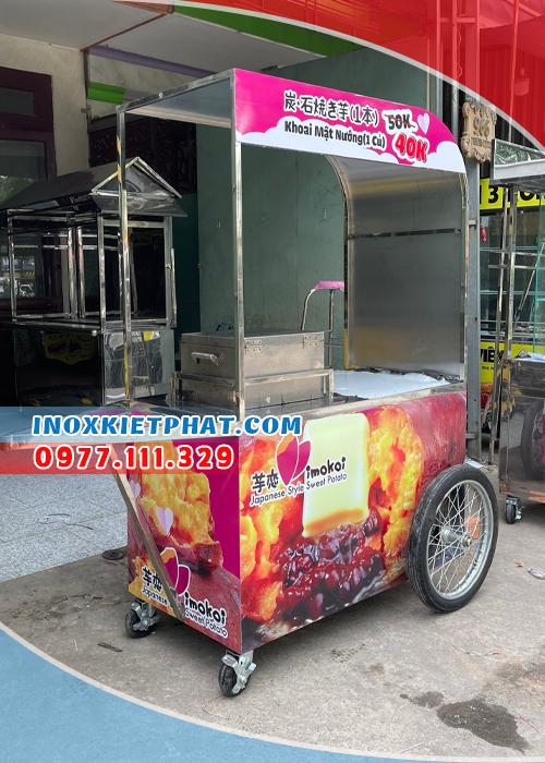 xe khoai lang nướng mật